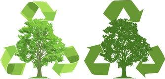 Ricicli per gli alberi Fotografia Stock Libera da Diritti
