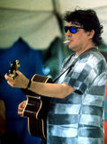 Rick Danko. Musician Rick Danko who gained fame as a member of the group 'The Band performs at the Bridgeton Folk Festival in 1993 Royalty Free Stock Photography