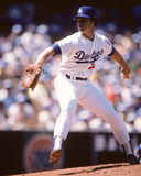 Rick Honeycutt. Los Angeles Dodgers pitcher Rick Honeycutt.  (Image taken from color slide Royalty Free Stock Photography
