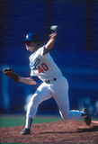 Rick Honeycutt. Los Angeles Dodgers pitcher Rick Honeycutt. (Image taken from color slide Royalty Free Stock Images