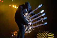 Rick Nielsen. LINCOLN, CA – June 7: Rick Nielsen with Cheap Trick performs at Thunder Valley Casino Resort in Lincoln, California on June 7, 2013 Stock Photos