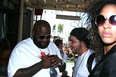 Rick Ross hanging out Royalty Free Stock Photo