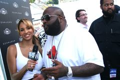 Rick Ross and model/host Bracha Krueger #4 Stock Photos