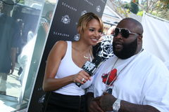 Rick Ross and model/host Bracha Krueger #5 Stock Photo