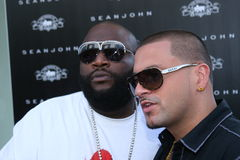 Rick Ross y estilo de DJ favorable Foto de archivo