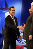 Rick Santorum at GOP Debate 2012. Republican presidential hopefuls, Mitt Romney, Ron Paul, Newt Gingrich, and Rick Santorum, faced for the final debate on royalty free stock photos