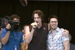 Rick Springfield and Danny Gokey. Rock n Roll legend Rick Springfield (left) appears with American Idol Danny Gokey (Right stock images