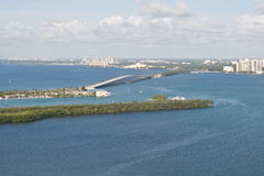 Rickenbacker Causeway Royalty Free Stock Photography