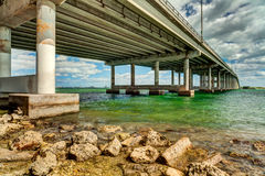 Rickenbacker Causeway Bridge Royalty Free Stock Photo