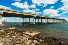 Rickenbacker Causeway Bridge Royalty Free Stock Photos