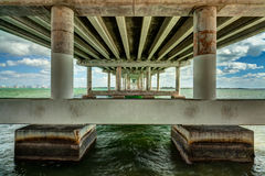 Rickenbacker Causeway Bridge Stock Image