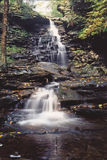 Rickets glen state park. Beautiful waterfall,one of 27 at rickets glen state park in pa royalty free stock photo