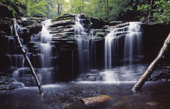 Rickets glen state park,pa. Breath taking waterfall at rickets glen state park,pa stock photo