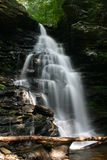 Ricketts Glen State Park Waterfall. Waterfall at Rickett's Glenn State Park in Pennsylvania Stock Photo