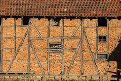 Rickety agriculture brick wall Stock Photography