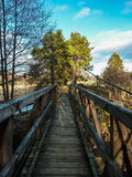 Rickety Bridge Coming in to Aberlour Royalty Free Stock Photos