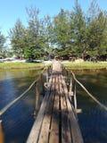 Rickety bridge royalty free stock photo