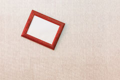 Rickety empty picture frame on the wall Stock Photos