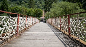 Rickety footbridge Royalty Free Stock Photo
