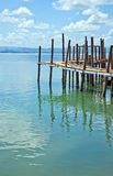 Rickety old pier 01 Royalty Free Stock Images