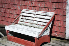 Rickety wooden bench Stock Image
