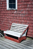Rickety wooden bench Royalty Free Stock Photos