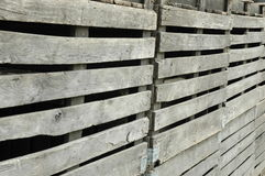 Rickety Wooden Fencing. An old, rickety wooden fence on a farm Stock Photos
