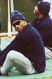 Rickey Henderson, Boston Rode Sox Stock Fotografie