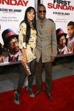 Rickey Smiley och Candice Hood  Arkivfoto