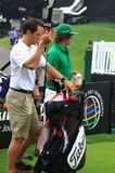 Rickie Fowler with his Caddy Royalty Free Stock Photo