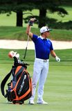 Rickie Fowler waits to hit Stock Photography
