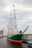 Rickmer Rickmers museum ship in port of Hamburg Stock Images