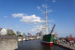 Rickmer Rickmers Muzealny statek w Hamburg, artykuł wstępny obrazy stock