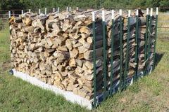Ricks of seasoned firewood for stoves Stock Image