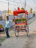 Ricksha driver at Kumbh Mela Royalty Free Stock Photo