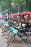 Rickshas行在中国 免版税库存图片