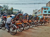 rickshaw fotografie stock libere da diritti
