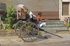 Rickshaw in Calcutta Stock Images
