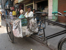 Rickshaw driver Stock Photography