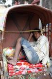 Rickshaw driver Royalty Free Stock Image