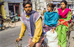 Rickshaw Driver Delhi India Stock Photo