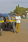 Rickshaw driver Royalty Free Stock Photo