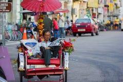 Rickshaw driver Royalty Free Stock Images