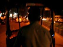 Rickshaw driver in India stock video