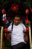 Rickshaw driver of Malang, Indonesia Royalty Free Stock Photos