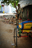 Rickshaw driver at rest. In Pondicherry, South India Royalty Free Stock Photos