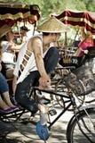 Rickshaw driver Stock Photos
