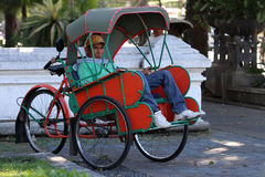 Rickshaw driver Royalty Free Stock Photos