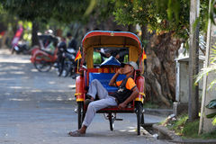 Rickshaw driver Royalty Free Stock Photo