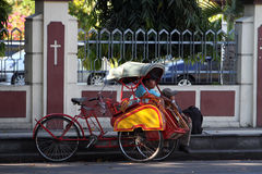 Rickshaw driver Stock Photo